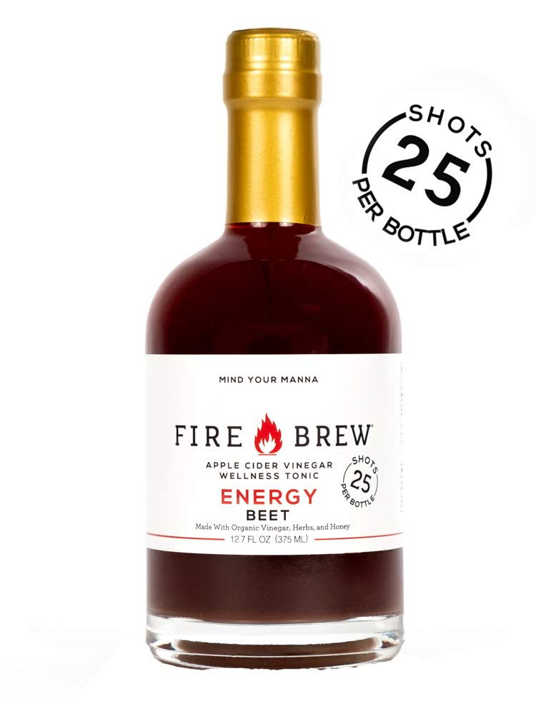 Fire Brew Apple Cider Vinegar based Beet Health Tonic, Energy Booster, 12.7 OZ (20-30 shots per bottle) (1 Bottle) by Fire Brew