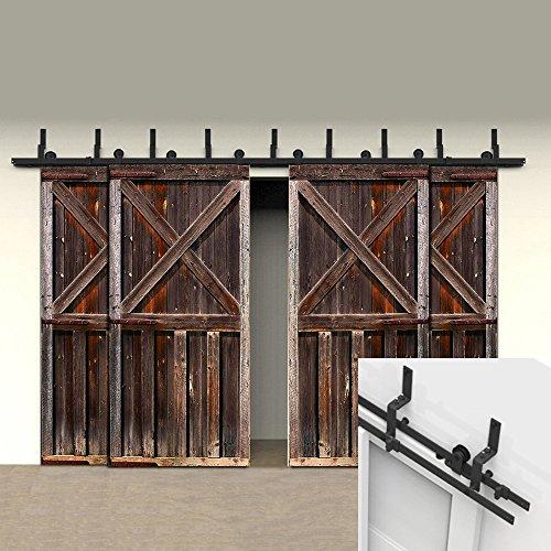 HomeDeco Hardware 5 16 FT 4 Door Rustica Sliding Interior National By Pass Barn  Door