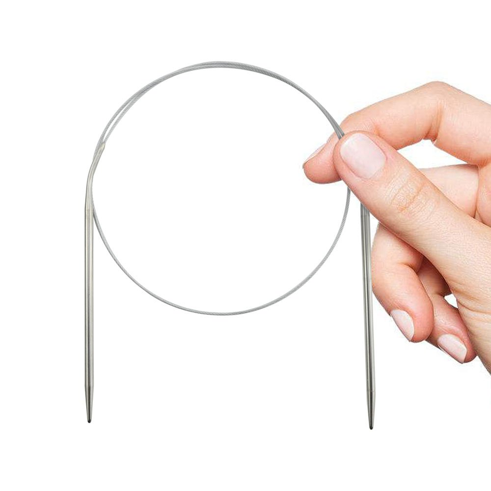 Stainless Steel Circular Knitting Needles 80cm SBYURE 11 Sizes Professional 32 Inch