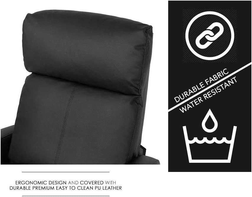 BestMassage Modern Leather Recliner Chair ergonomic design