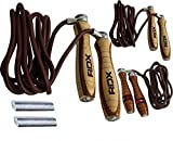 Cheap RDX Adjustable Leather Gym Skipping Jump Speed Rope Weighted Fitness Training Workout Exercise