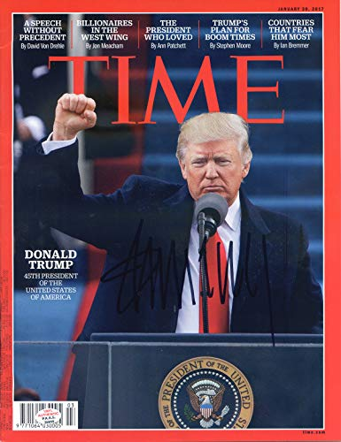 Donald Trump Signed Autographed TIME Magazine PAAS COA by Sports-Autographs