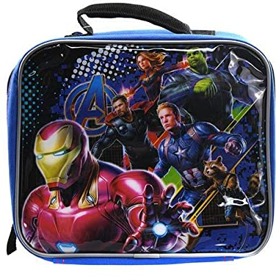 Marvel Avengers Soft Insulated Lunch Box (Blue/Black): Kitchen & Dining