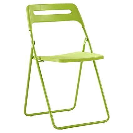 HYYSH Silla Plegable de plástico Silla IKEA Simple Silla del ...