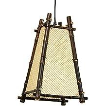 Oriental Furniture Chic Oriental Look, 14-Inch Itashi Japanese Bamboo Hanging Lantern Ceiling Light
