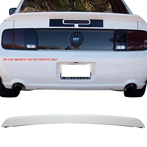 Pre-painted Trunk Spoiler Fits 2005-2009 Ford Mustang | OE Factory Style ABS Painted #HP Hi Performance White Boot Lip Rear Spoiler Wing Deck Lid Other Color Available By IKON MOTORSPORTS