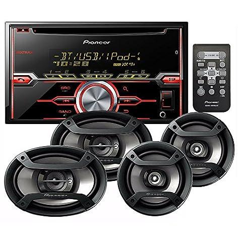 PIONEER FXT-X7269BT PACKAGE INCLUDES FH-X720BT CD RECEIVER CD BLUETOOTH + PIONEER TS-695P 3-WAY 230 WATT SPEAKER SET+ PIONEER TS-165P 2-WAY 200 WATT SPEAKER (Car Speakers)