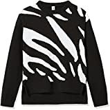 Kid Nation Girls' Long Sleeve Pullover Sweater L Black