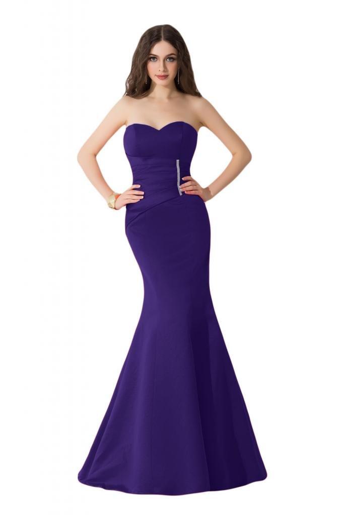 Sunvary corte Slim Pageant sirena satén para vestidos de fiesta, ropa de cartón de artistas: Amazon.es: Ropa y accesorios