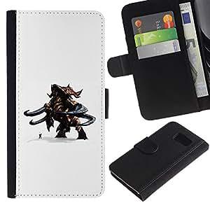 All Phone Most Case / Oferta Especial Cáscara Funda de cuero Monedero Cubierta de proteccion Caso / Wallet Case for Sony Xperia Z3 Compact // Cartoon 3D Figurine Character Monster Man Duo