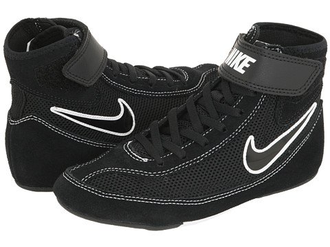 Kids Nike Speedsweep VII Wrestling Shoe Black/White/Black Size 1