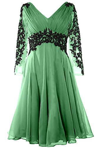 Neck V clover Evening Gormal Bride Mother Gown of Sleeve Long Dress Gorgeous MACloth wUq75EqB