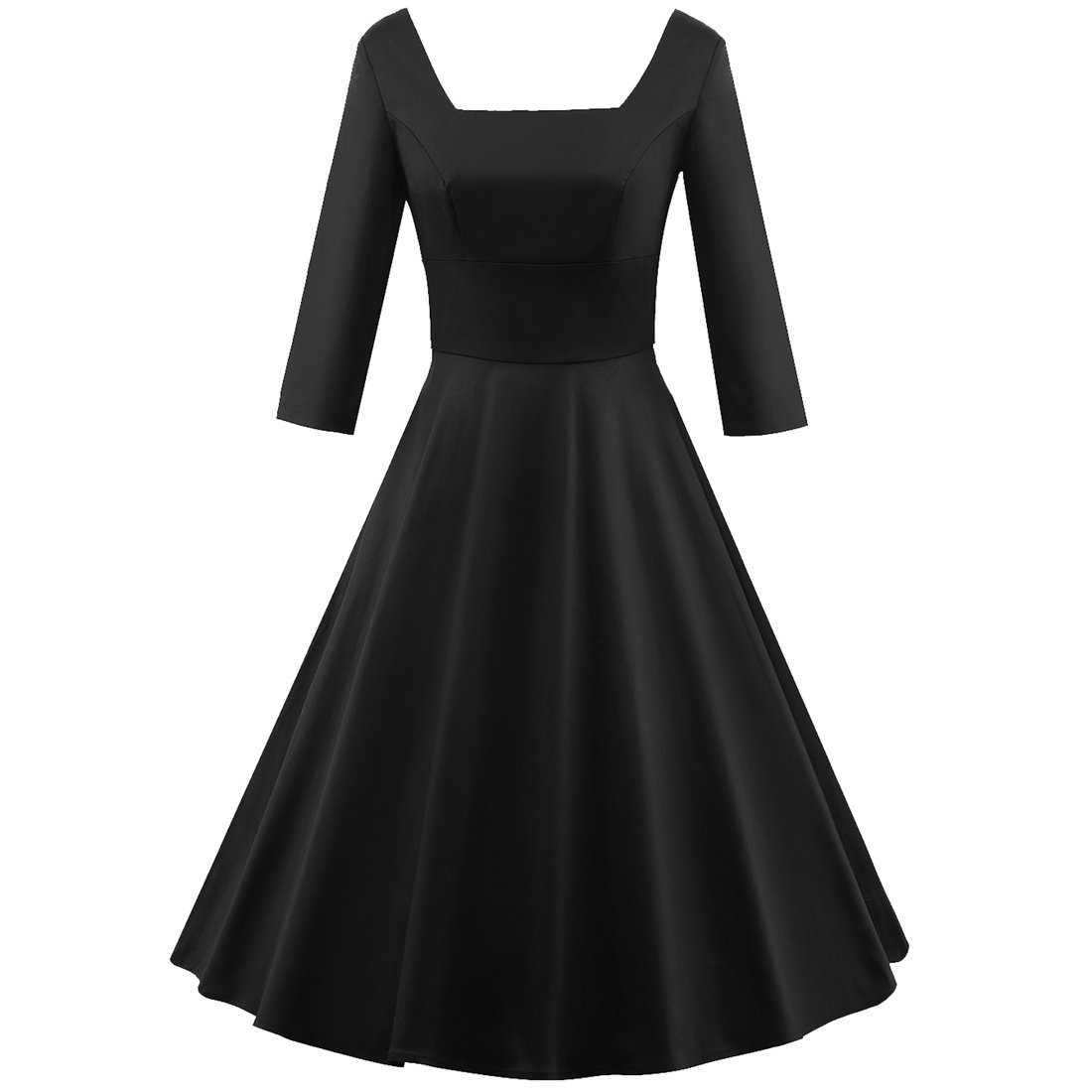 565eaec199f Amazon.com  Shengdilu Women s Vintage Retro Ball Gown 1940s Flared Dress  Swing Skaters  Clothing