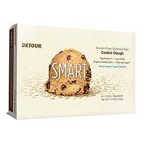 Detour Smart Gluten Free Oatmeal Bar, Cookie Dough, 11.7 Ounce, 9 count