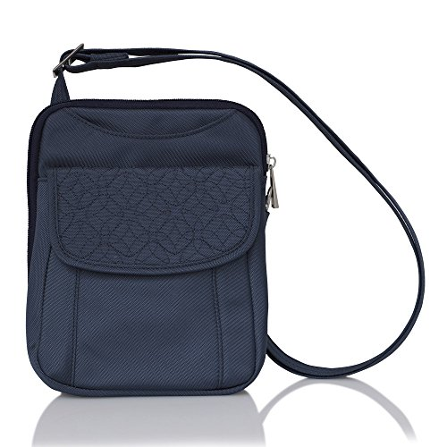Travelon Anti-Theft Signature Slim Pouch (Blue - Exclusive Color)