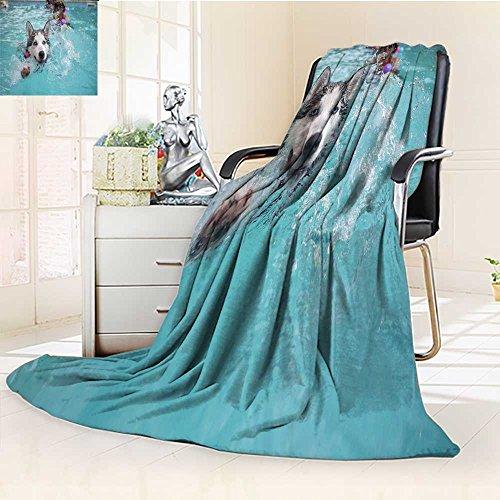 YOYI-HOME Duplex Printed Blanket Warm Microfiber Dog Warm Microfiber All Season for Bed or Couch/47 W by 79