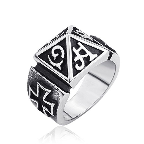 GDSTAR Gothic Maya Cross Vintage Protection ring for Man with cross Good Weapon For You 13.0 -