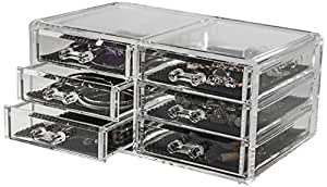 rangement cie ran6044 caja para joyas color transparente hogar. Black Bedroom Furniture Sets. Home Design Ideas