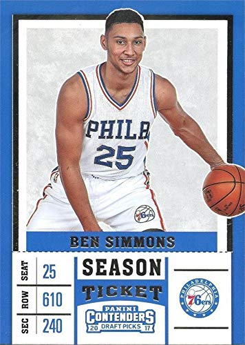 purchase cheap 02146 3f775 Ben Simmons basketball card (Philadelphia 76ers, All Star ...