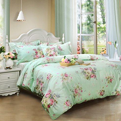 green floral duvet cover sets