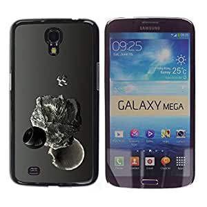 Carcasa Funda Prima Delgada SLIM Casa Case Bandera Cover Shell para Samsung Galaxy Mega 6.3 I9200 SGH-i527 / Business Style Abstract Drop