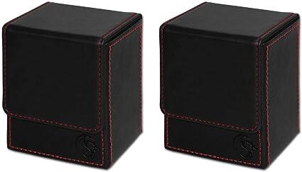 BCW Deck Case LX Premium Leatherette Black 2-Pack