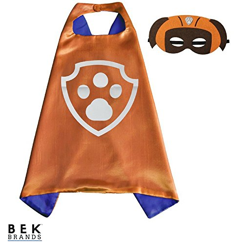 Kids Dress Up Cape and Mask Costume for Superhero Party Favors, Halloween, and More (Zuma with Paw) ()