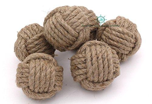 Nautical Decoration Big Nautical Rope Ball/Set of 6 Jute Rope Balls/Nautical Bowl Filler/Beach ()