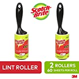 Scotch-Brite Lint Roller, 2 Pack, 60 Sheets/Roller, Refillable Lint Brush