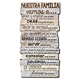 Lighthouse Christian Products Family 8.5 x 16.5 Nuestra Familia 8.5″ x 16.5″ Stacked Wood Plaque Review