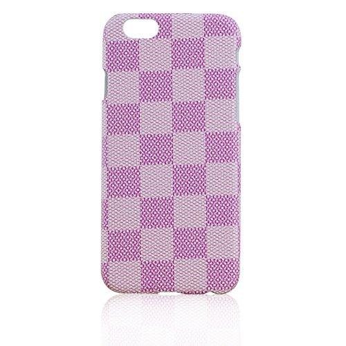 iPhone 5 / 5S , Luxury Brown Checker Faux Leather Fashion Designer Wallet Flip Cover Skin Case Stand (Miu Prada)