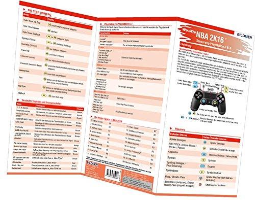 NBA 2K16 - Die komplette Spielsteuerung groß auf einen Blick!: Version für PS3 und PS4 (Wo&Wie / Die schnelle Hilfe)