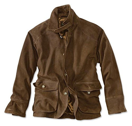 - Orvis Men's Crowley Grand Leather Coat, Brown, Large