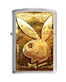 Zippo Playboy Rabbit Pocket Lighter, Brushed Chrome