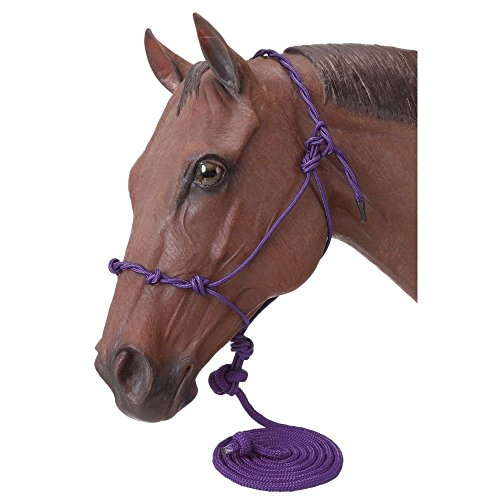 Tough 1 Rope Knotted Horse Training Halter with 14 feet Lead Rope ()