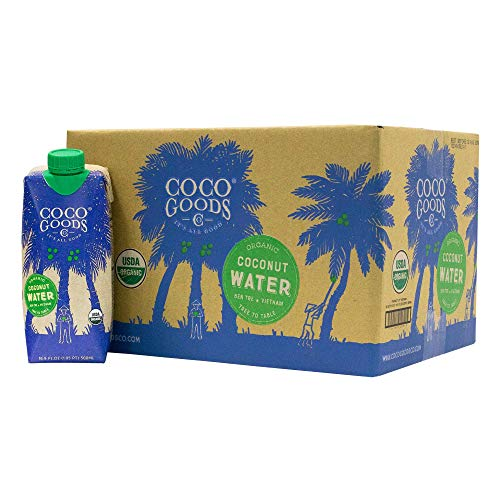 CocoGoods Co. Vietnam Single-Origin 100% Organic Coconut Water 16.9 fl. oz (Pack of 12)