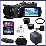 Canon VIXIA HF G40 Full HD Camcorder Pro Bundle, Includes: 64GB SDXC Class 10 Memory Card, Spare Battery, 58mm Telephoto & Wide Angle Lenses, Camcorder Bag and more...