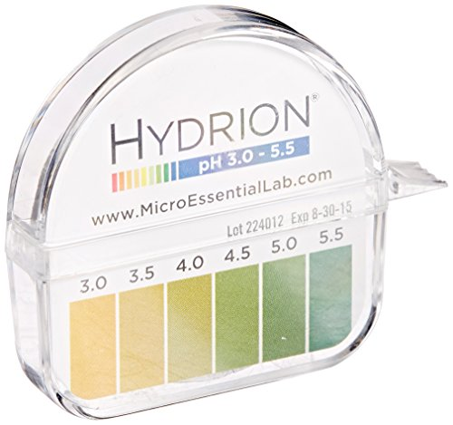 Micro Essential Lab 3110M18EA 325 Hydrion Short Range pH Test Paper Dispenser, 3.0-5.5 (Nitrazine Paper)
