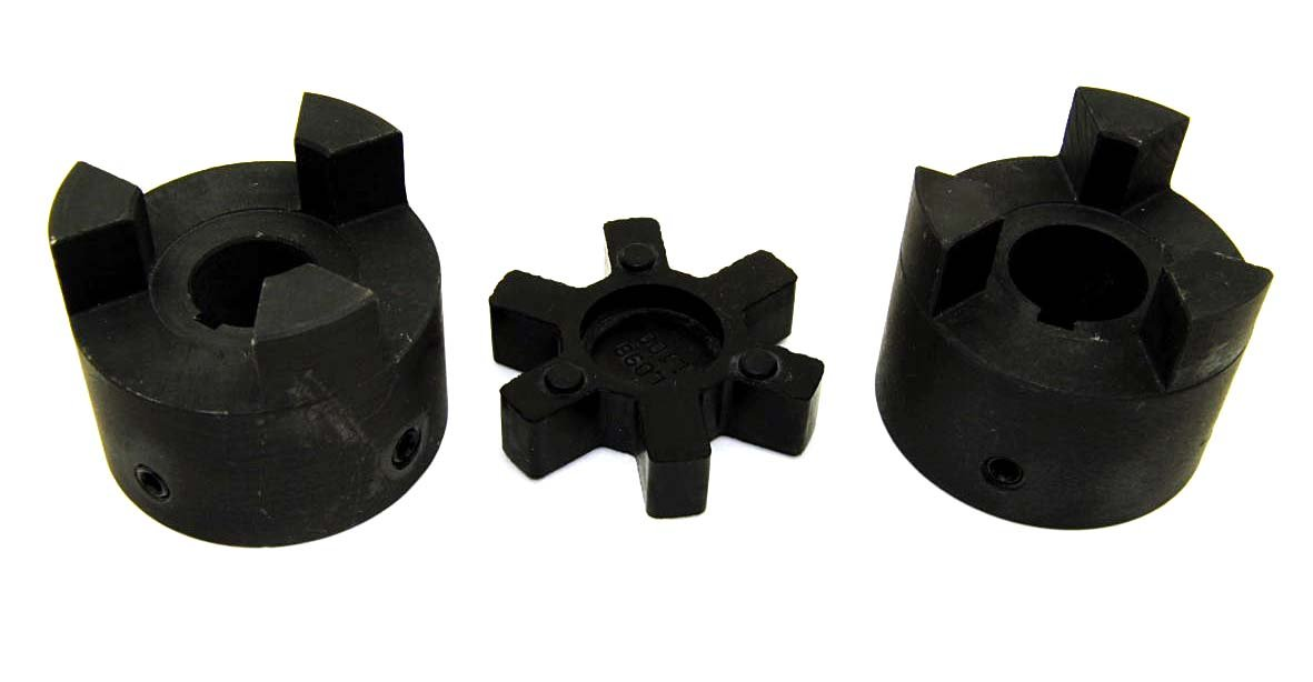 "1/"" L095 Flexible 3-Piece L-Jaw Coupling Set /& Buna-N NBR Rubber Spider"