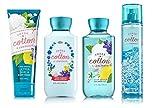 Bath & Body Works SHEER COTTON & LEMONADE Deluxe Gift Set – Body Lotion – Body Cream – Fragrance Mist & Shower Gel Full Size