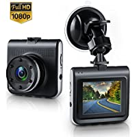 Dash Cam,Amuoc Mini Dash Camera for Cars with FHD 1080P, 2.2 LCD, 170 Degree Wide-Angle View Lens, G-Sensor, WDR, Loop Recording, Great Night Vision