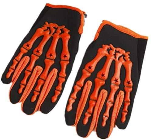 Qiu Ping Men's Cycling White Skeleton Fitness Bike Full Finger Gloves