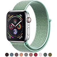 VATI Sport Band Compatible with Apple Watch Band 38mm 40mm 42mm 44mm, Soft Lightweight Breathable Nylon Sport Loop Replacement Strap Compatible with iWatch Apple Watch Series 4, Series 3/2/1