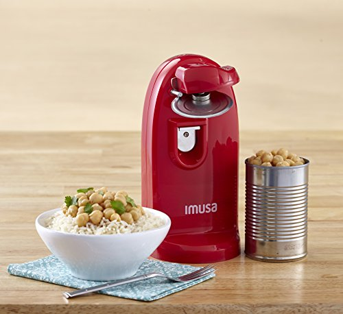 IMUSA USA Can Opener with Opener Sharpener,