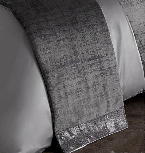 KYLIE MINOGUE SATURN GREY DIAMANTE BED RUNNER 45CM X 225CM