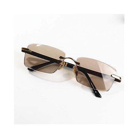 Santonliso Gafas de Sol de Lentes de Cristal marrón sin ...