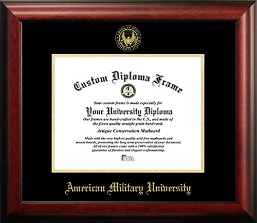 American Military University Graduation Diploma Frame (11 X 14) by Diploma Frame Deals