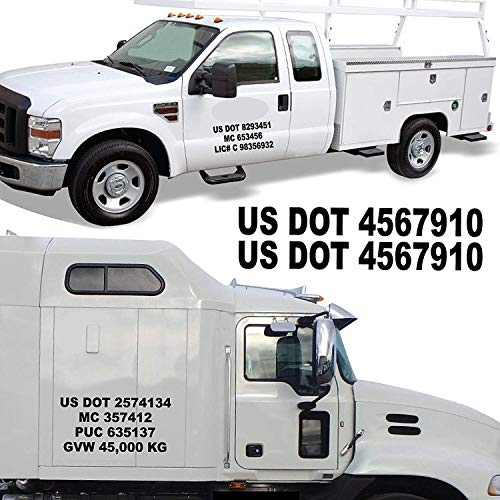 """1060 graphics 2.5"""" H x 18"""" W USDOT Numbers - Sold Per for sale  Delivered anywhere in USA"""
