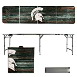 NCAA Michigan State University Spartans Weathered Version 8-Feet Folding Tailgate Table