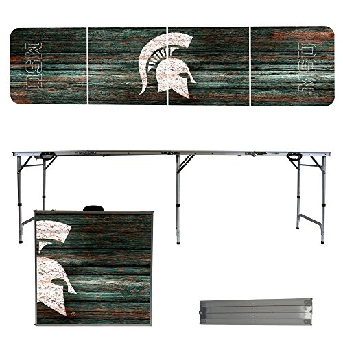 NCAA Michigan State University Spartans Weathered Version 8-Feet Folding Tailgate Table by Victory Tailgate
